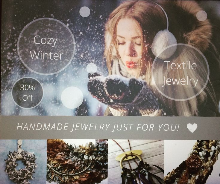 """Shop my sale: 30% off. """"Cozy Winter"""" Promotion  Get 30% off in all jewelry from """" Textile"""" section.  Visit the STORES: www.etsy.com/shop/carlaamaro www.carla-amaro.com  Have a Warm Winter!!  #etsy #carlaamaro #etsyfinds #etsysale #etsygifts"""