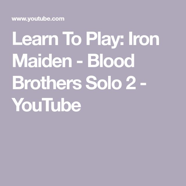 Learn To Play: Iron Maiden - Blood Brothers Solo 2 - YouTube