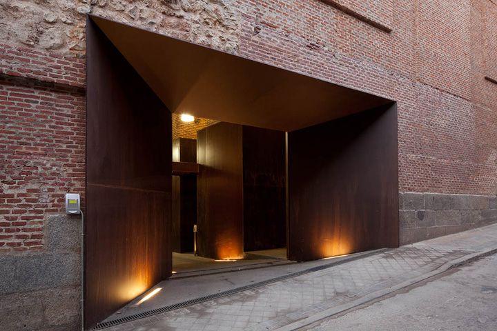Conde Duque building by Carlos de Riaño Lozano, Madrid Spain office educational