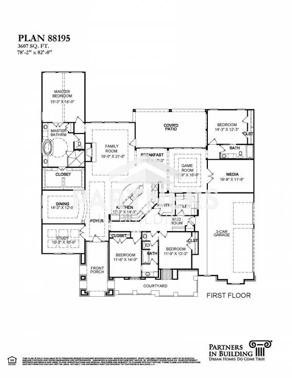 25 best partners in building images on pinterest house floor plans plan 88195 is a 3607 sqe ft 4 bedroom plan built and designed by partners in building custom home builder in texas malvernweather Gallery