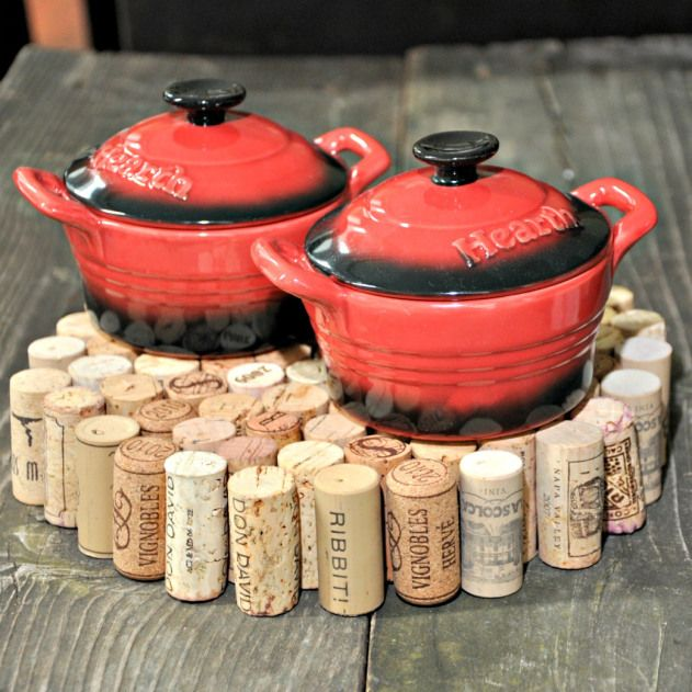 DIY Suport pentru oala din dopuri de vin. DIY Coaster