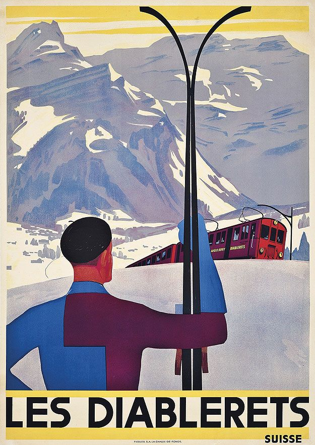 Vintage Ski Posters - we have skied here