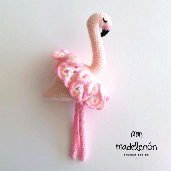 Maia Flamingo Amigurumi Pattern By Madelenon Shops