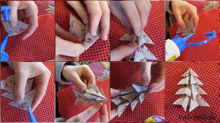 Valérie nous montre comment faire un sapin de papier