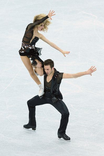 Guillaume Cizeron Gabriella Papadakis and Guillaume Cizeron of France perform in the Junior Ice Dance during the Grand Prix of Figure Skatin...