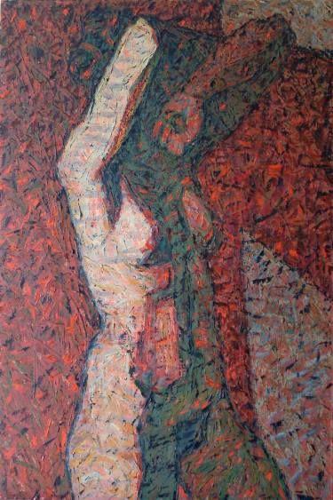 "Saatchi Art Artist Svetlana Shebarshina; Painting, ""The sun at sunset"" #art"