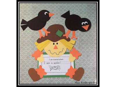 Miss Kindergarten: Scarecrow craftivity
