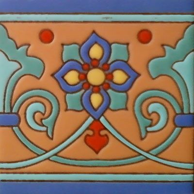 "mexican relief tile - Mexican Tile - kitchen backsplash - ""Would like to have this in my kitchen""."