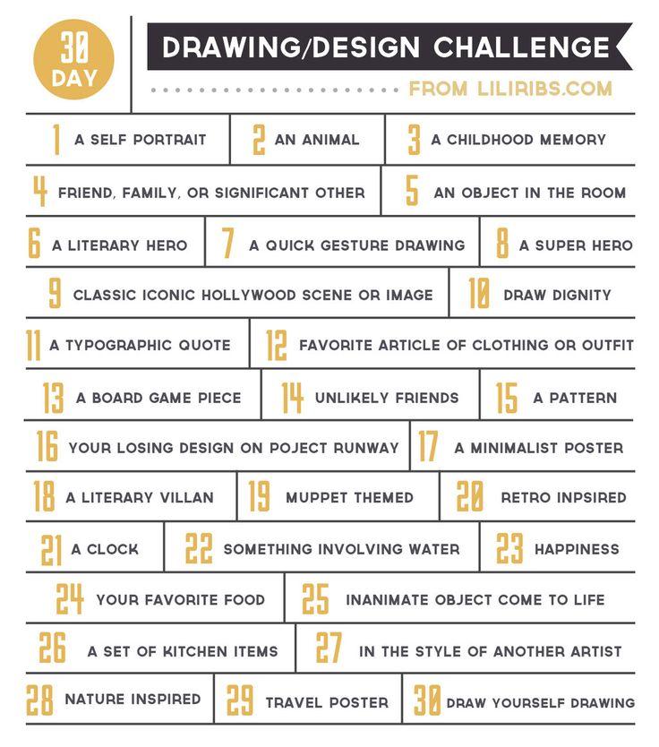 http://www.deviantart.com/art/30-Day-Drawing-and-Design-Challenge-353026689