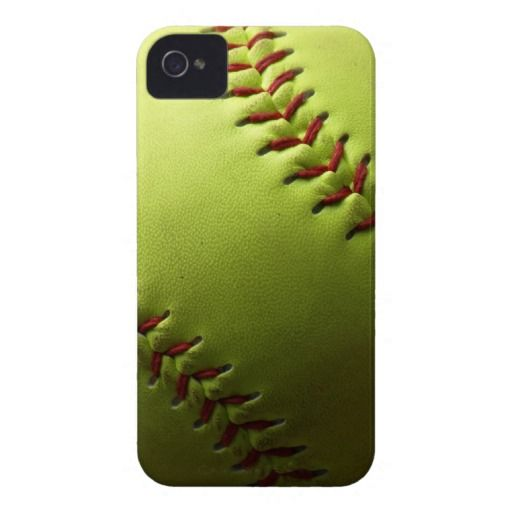 Yellow Softball Case-Mate iPhone 4 Cases $50.95