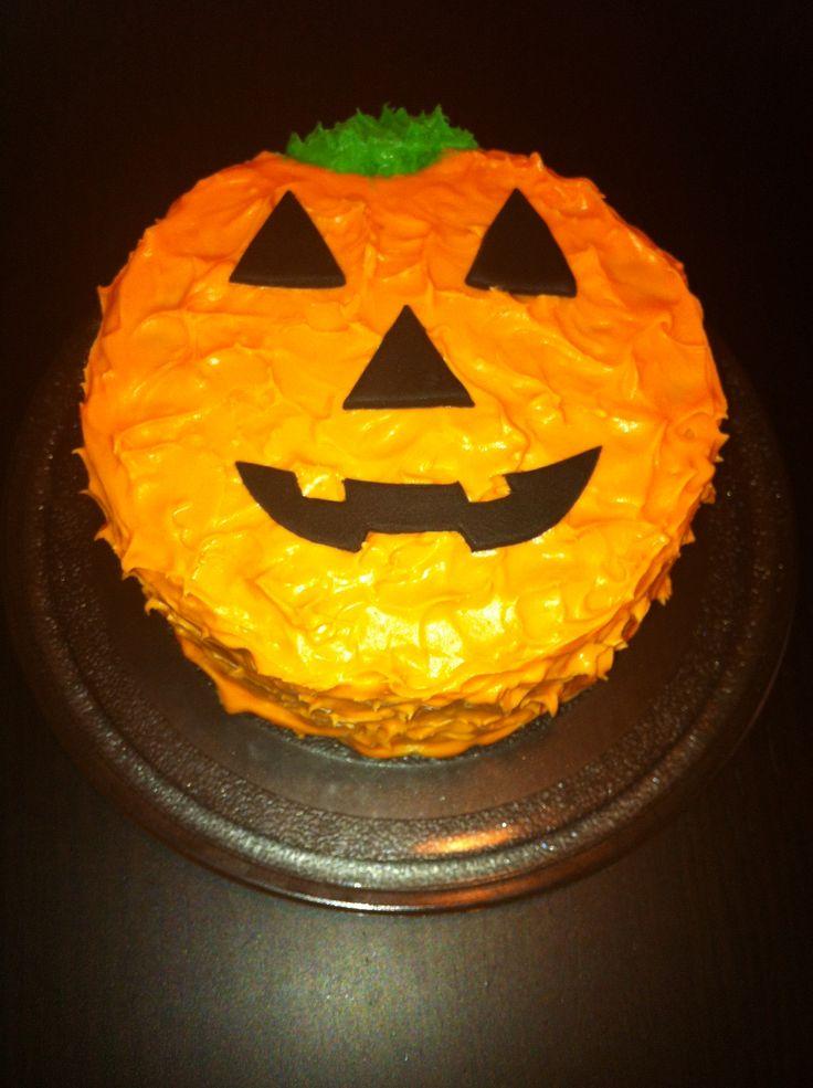 Tarta de calabaza con crema de queso!!! Todo para celebrar Halloween...