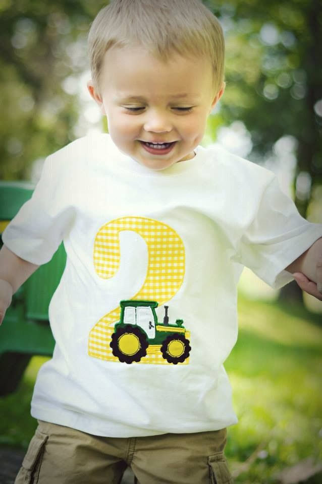 Birthday Tractor party shirt by My Itsy Bitsy Baby Boutique!