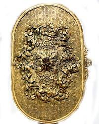Antique Apollo Studios Ormolu Large Jewelry Box-jeweled, velvet,ormolu, gold plaited,