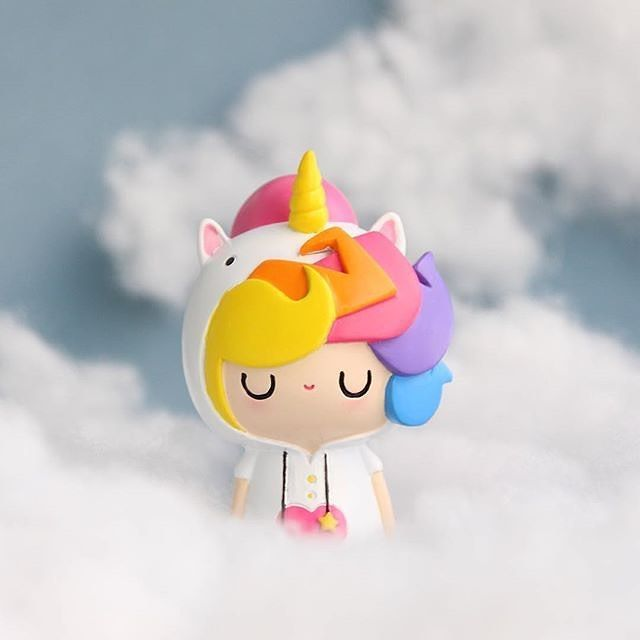 Little Starlight Girl by MOMIJI Instagram by @mercanart Hide a message inside a Momiji doll. Spread the love. #unicorn #permissiontodream #myunicornlife