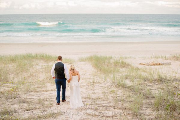 beach style wedding photography. Photography by The Arched Window. Kingscliff beach NSW.
