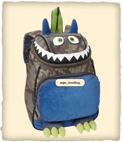 NWT Baby GAP Kids Boys Camo Monster Backpack School Book Bag SOLD OUT Kyler Needs This