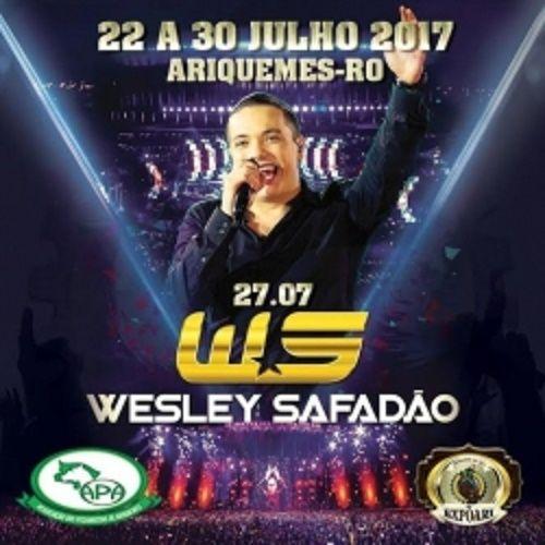 Cantor Wesley Safadão e mais três shows são confirmados na Expoari