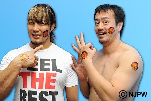 新日本プロレスリング:【WK10】〈特典決定!〉「WRESTLE KINGDOM 10 in 東京ドーム」ファンクラブ先行予約特典は『フェイスペインティングシール』!!