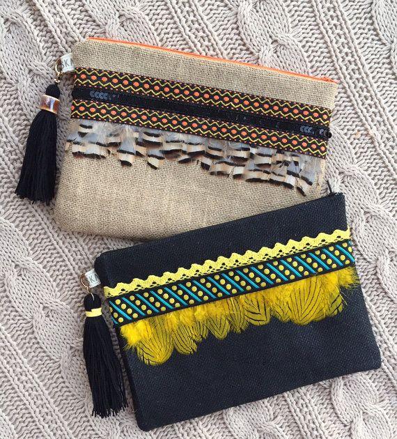 Bolso de mano clutch boho clutch etnico clutch by PriskaTienda