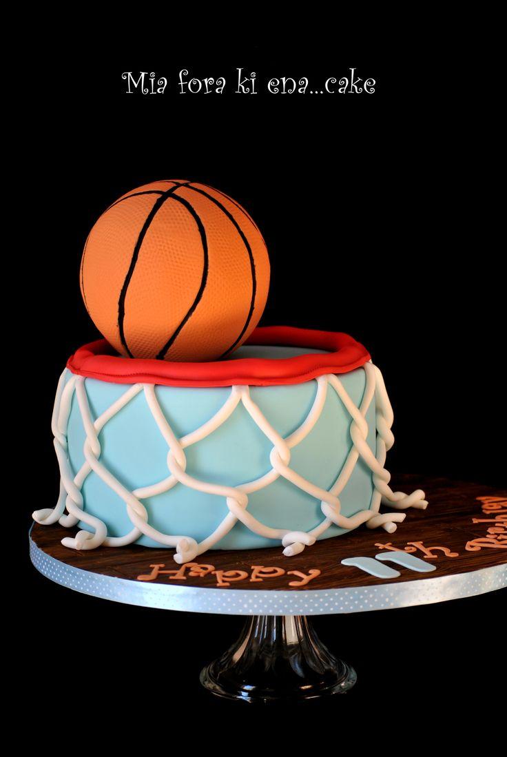 Birthday Cakes - Basketball cake!