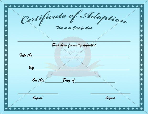 Adoption Certificate | Certificate Template | Pinterest | Adoption