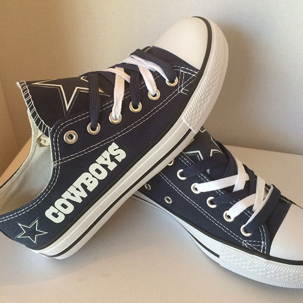 Dallas Cowboys Converse Style Sneakers - http://cutesportsfan.com/dallas-cowboys-designed-sneakers/