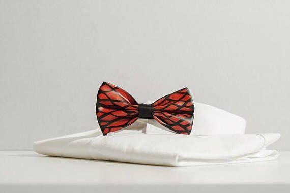Papillon tessuto e resina dipinto a mano made in Italy