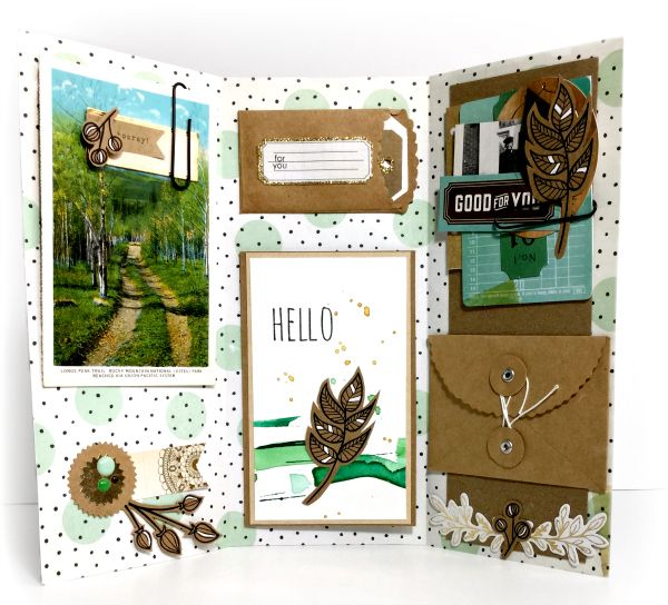 Pinch Your Chic: Triptych Bi-Fold Pen Pal Letter: Simon Says Stamp Love of Plants Challenge