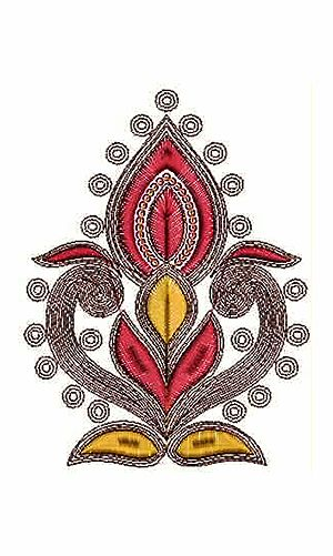 Unique Cording Applique Embroidery Design