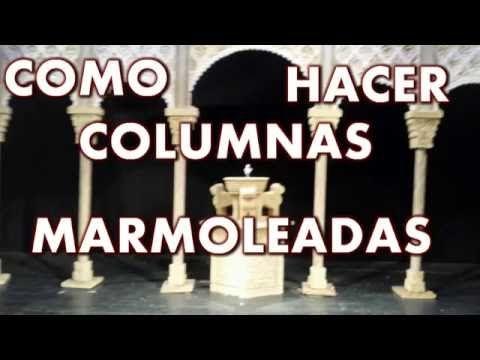 Las Cosas de la Lola: Columnas marmoleadas - TYPE MARBLE COLUMNS