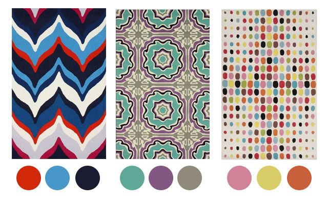 Tip: Looking for color inspiration for your nursery? You could start with a great rug {See more color inspiration ideas on projectnursery.com!} #nursery