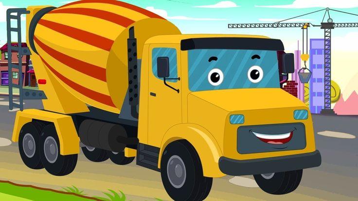 Cement Mixer Truck   Kids Cartoon   Construction Vehicle for children   ...