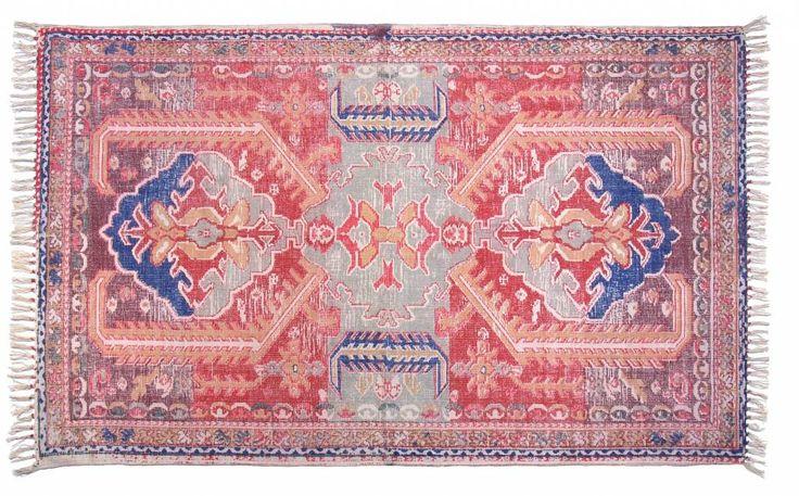 Prachtig katoenen tapijt in oriëntaalse sferen. Het vloerkleed is niet zwaar dus makkelijk hanteerbaar.