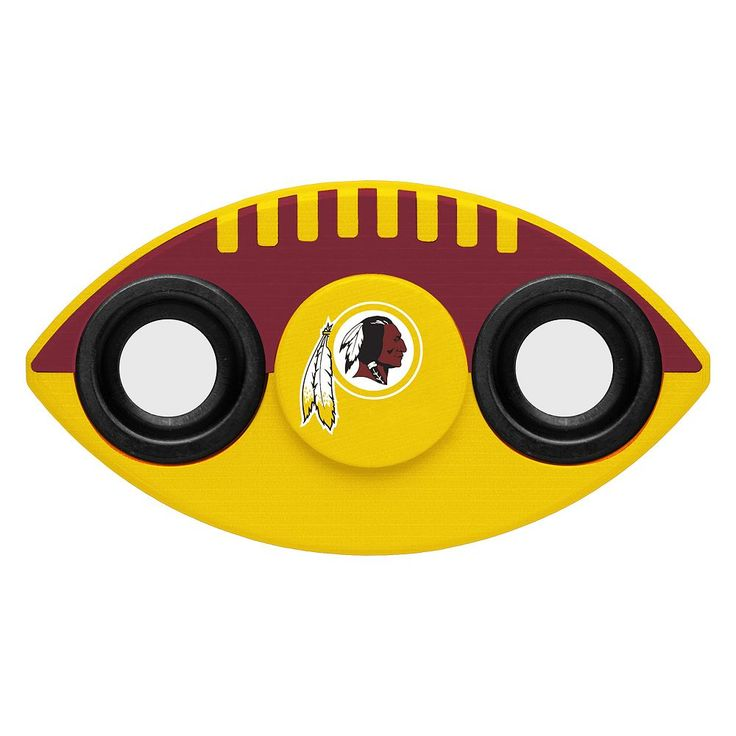 Washington Redskins Diztracto Two-Way Football Fidget Spinner Toy, Multicolor