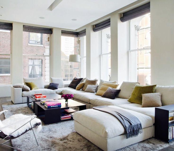 oltre 25 fantastiche idee su divano ad angolo su pinterest ... - Ampio Divano Ad Angolo In Tessuto Grigio Bianco