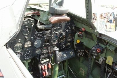 Photo taken during the 30th Anniversary of Museu Aeroespacial do Campo dos Afonsos, Rio de Janeiro. This is the cockpit of the P-47, used by the Brazilian Air Force during the 2nd WW. Supposedly, the FAB226766 (B4) is the only P-47 flying in Brazil nowadays. - Photo taken at Rio de Janeiro - Campo Delio Jardim de Mattos (Campo dos Afonsos) (SBAF) in Brazil on October 19, 2003.