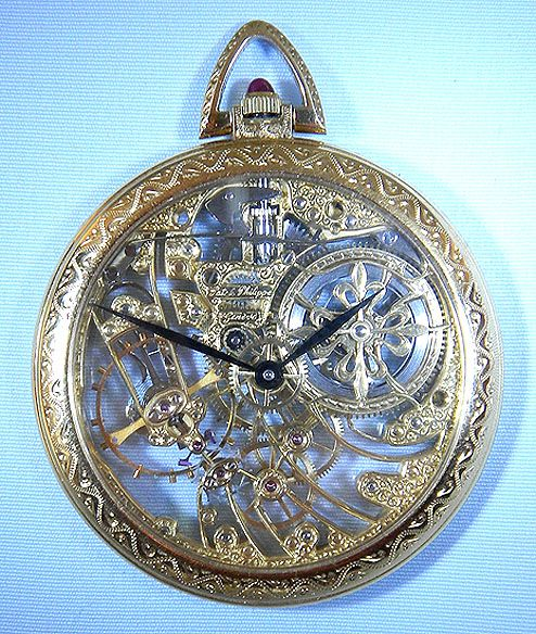 Bogoff Antique Pocket Watches Skeletonized Patek Philippe - Bogoff Antique Pocket Watch # 6670