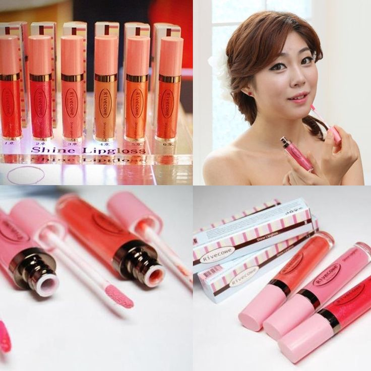 Rivecowe Shine Lipgloss Lipstick Liquid Pencil Sexy 6color Makeup Korea hiwon410 #RivecoweKorea