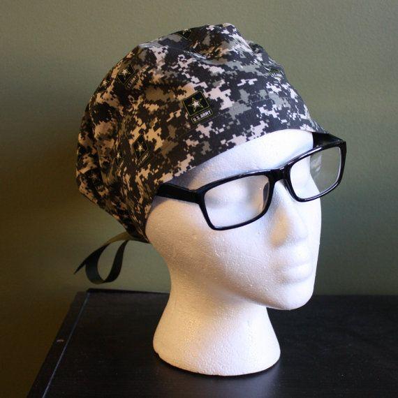 US Army Surgical Scrub Hat by FourEyedCreations on Etsy, $15.00 https://www.etsy.com/listing/169627164/us-army-surgical-scrub-hat