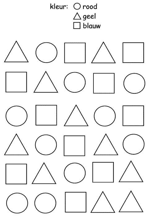 Domein: meetkunde Onderdeel: construeren Doel: meetkundige vormen onderscheiden en benoemen zoals cirkel, rechthoek, vierkant, driehoek, ruit