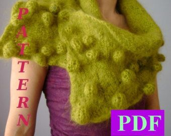 Knitted Scarf  Pattern knit scarf от VitalTemptation на Etsy