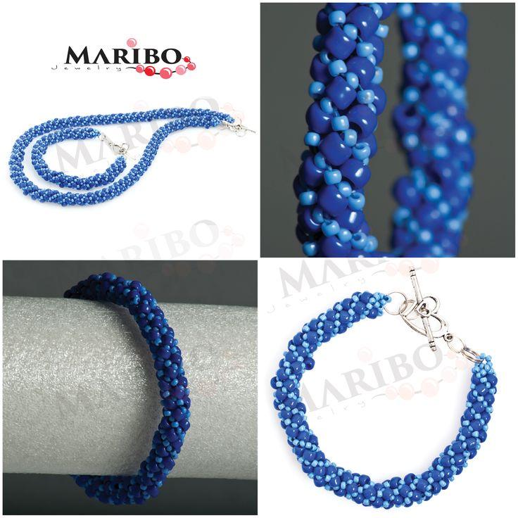 https://www.facebook.com/maribo.jewelry  handmade beaded jewelry | MARIBOJewelry | Russian Spiral SET, bracelet and necklace