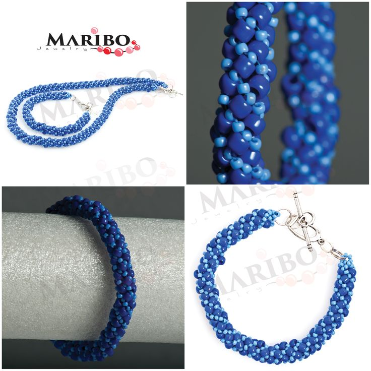 https://www.facebook.com/maribo.jewelry  handmade beaded jewelry | MARIBOJewelry | Russian Spiral SET, bracelet and necklace
