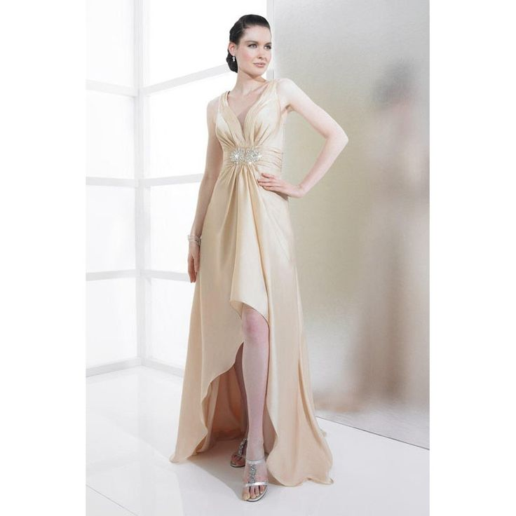 Cool champagne colored dresses Champagne Colored Wedding Dresses Short in Front Long in Back hjwz