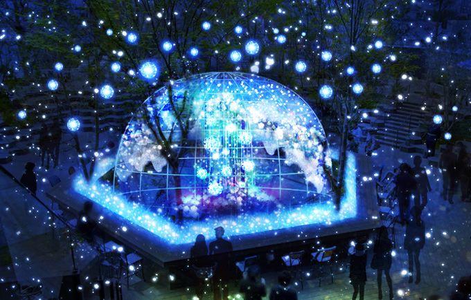 光が生み出す幻想的な泉、東急プラザ表参道原宿の屋上に冬のイルミネーション | ニュース - ファッションプレス