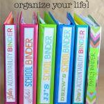Cant Keep Up? Use binders to help organize your life! www.thirtyhandmadedays.com