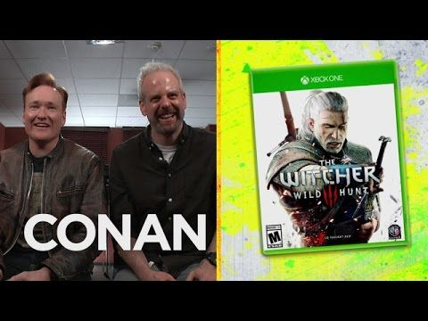 Conan O'Brien Plays and Reviews 'The Witcher 3: Wild Hunt' on His 'Clueless Gamer' Series