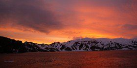 Beautiful Arctic Sunsets in East Greenland: http://www.quarkexpeditions.com/en/arctic/expeditions/east-greenland