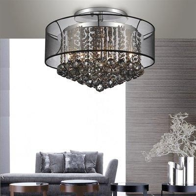 A stunning semi flush chandelier with spotless crystals to add an elegant  touch to a room