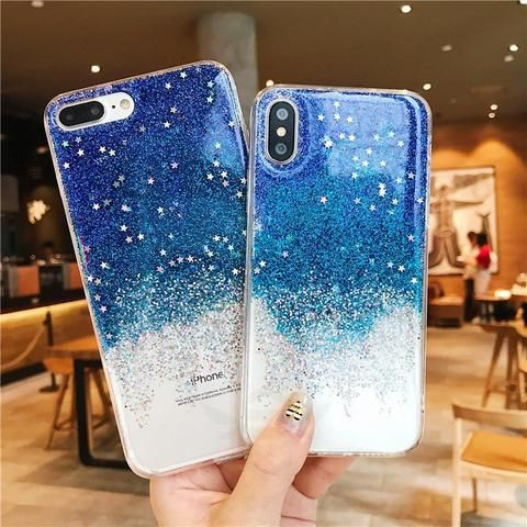 Fashion Bling phone case for iphone 7 case for iphone x fundas for iphone 6 6s 7 8 plus Soft Silicone Phone Back Cover Case